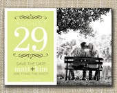 custom photo save the date - date.