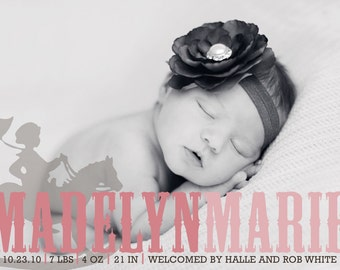 custom photo birth announcement - lil' bit country.