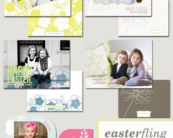 photographer templates - easter photoshop templates - easter fling bundle.