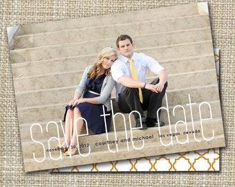 modern save the dates, save-the-date magnet or card, save the date postcard, DIY printable save the date,