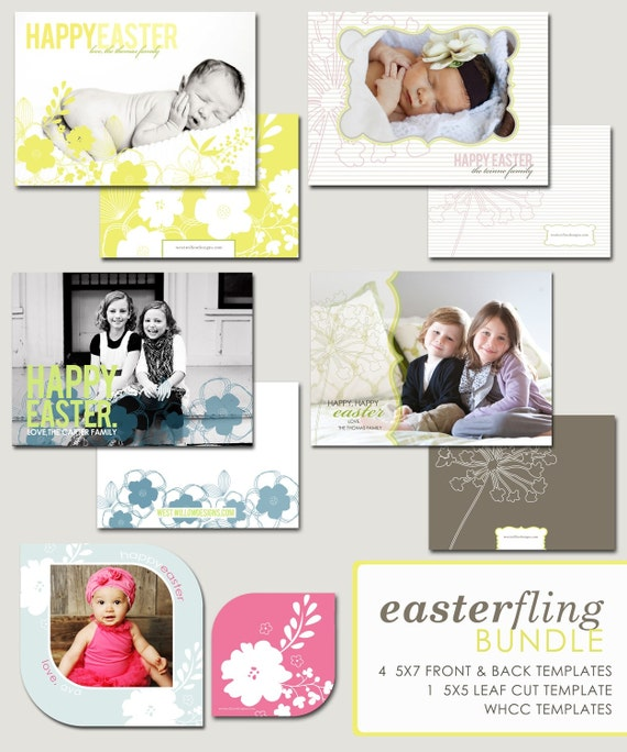 photographer templates - easter photoshop templates - easter fling bundle.