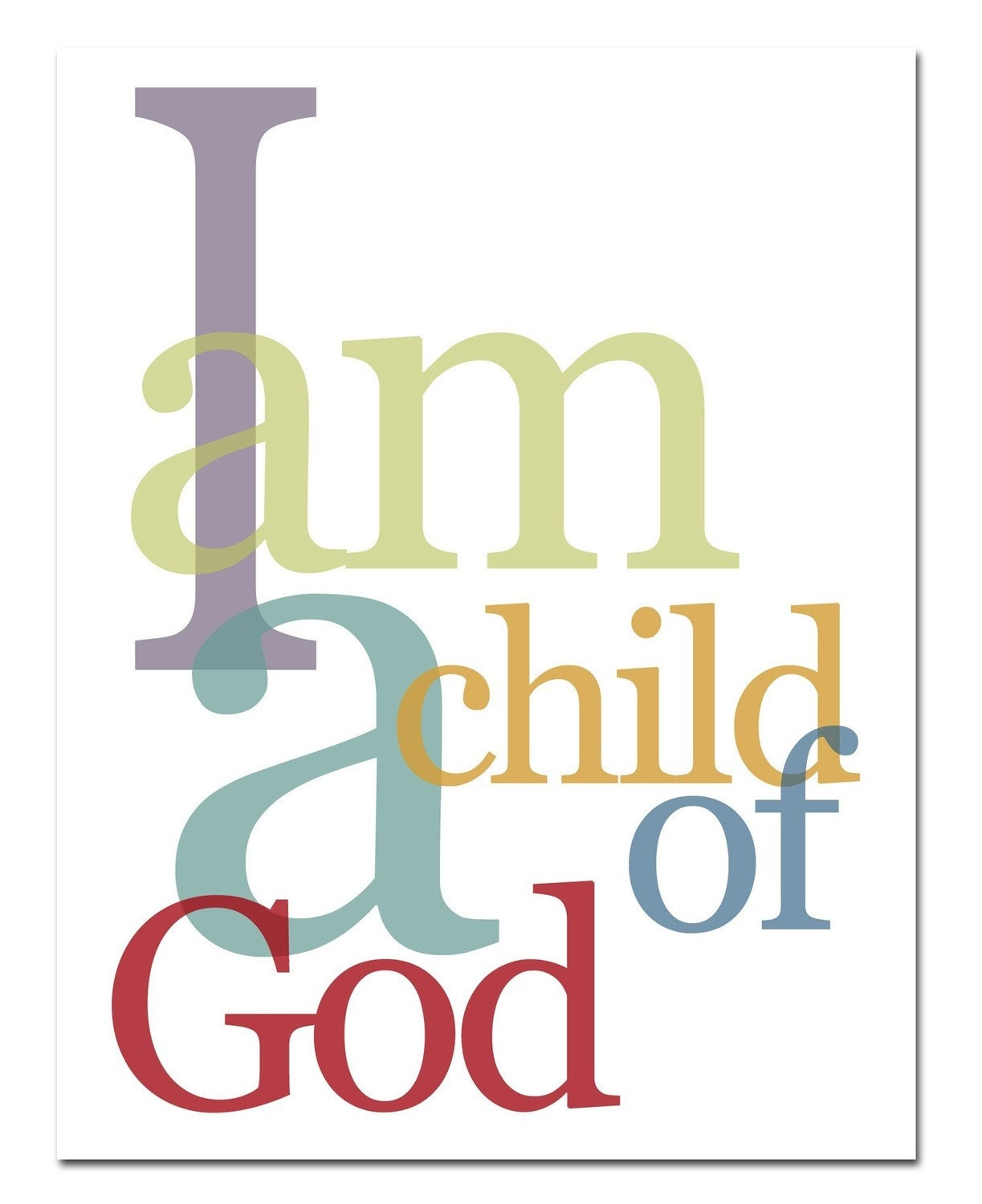 This is an image of Challenger I Am a Child of God Printable
