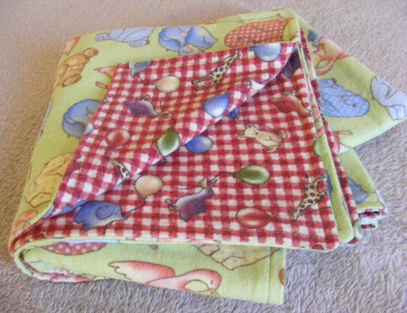 """Lg 2 Layer Flannel Receiving Blanket 34"""" Square"""