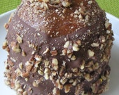 Caramel Chocolate Covered Apples with Nuts 2 Apples