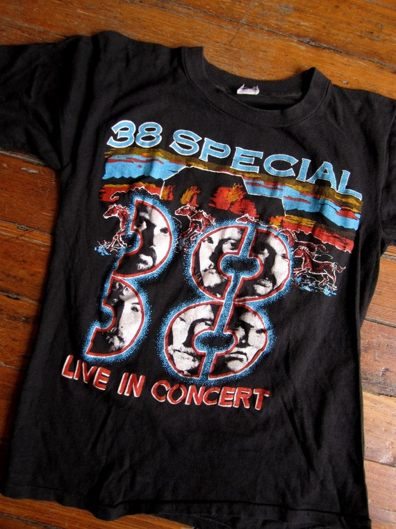 Vintage 1970s 1980s 38 Special T Shirt Tour Two Sided Tshirt