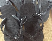Havaianas Black 9/10 Girls Flip Flop Lot  3