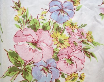 Pansy Daisy Standard Pillowcase Set - Pastel Pink, Purple, Blue, Green, Yellow