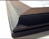 8x10 chocolate brown traditional rustic poplar hardwood picture frame . . . .handmade