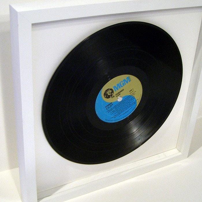 Vinyl Record Shadow Box Frame Handmade Poplar Hardwood