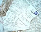 postcards with handwritten correspondence