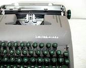 manual smith corona silent typewriter - industrial mid century vintage decor - mad men style
