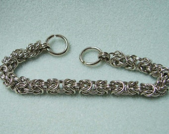 Byzantine Nickel Silver Chainmaille Bracelet 8 Inches in Length