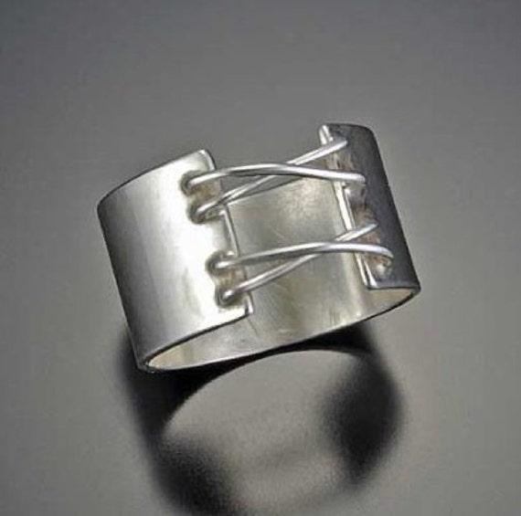 Sterling Corset Ring