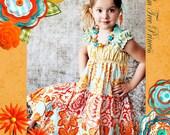 Floral Dress - Spring Dress - Orange Dress