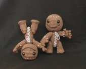 Hand crocheted sackboy from Little Big Planet string-jointed international shipping added
