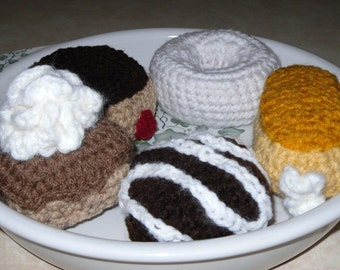 crochet donuts zero calorie dessert play food or display food