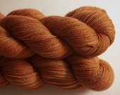 silky merino sock yarn - oak