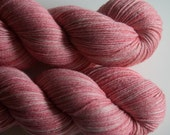 silky merino sock yarn - bubble gum