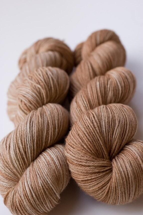 silky merino sock yarn - vanilla latte