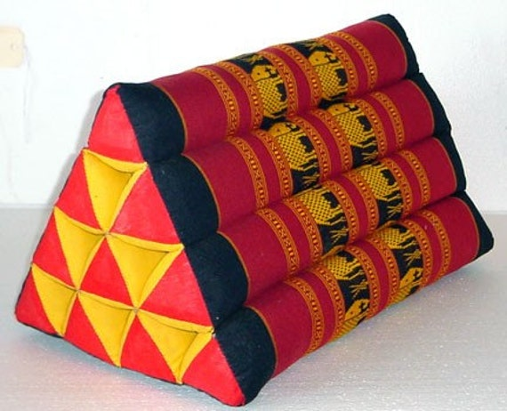 Traditional Thai Pillow : Traditional Thai Buddhist Meditation Pillow Triangle Woven