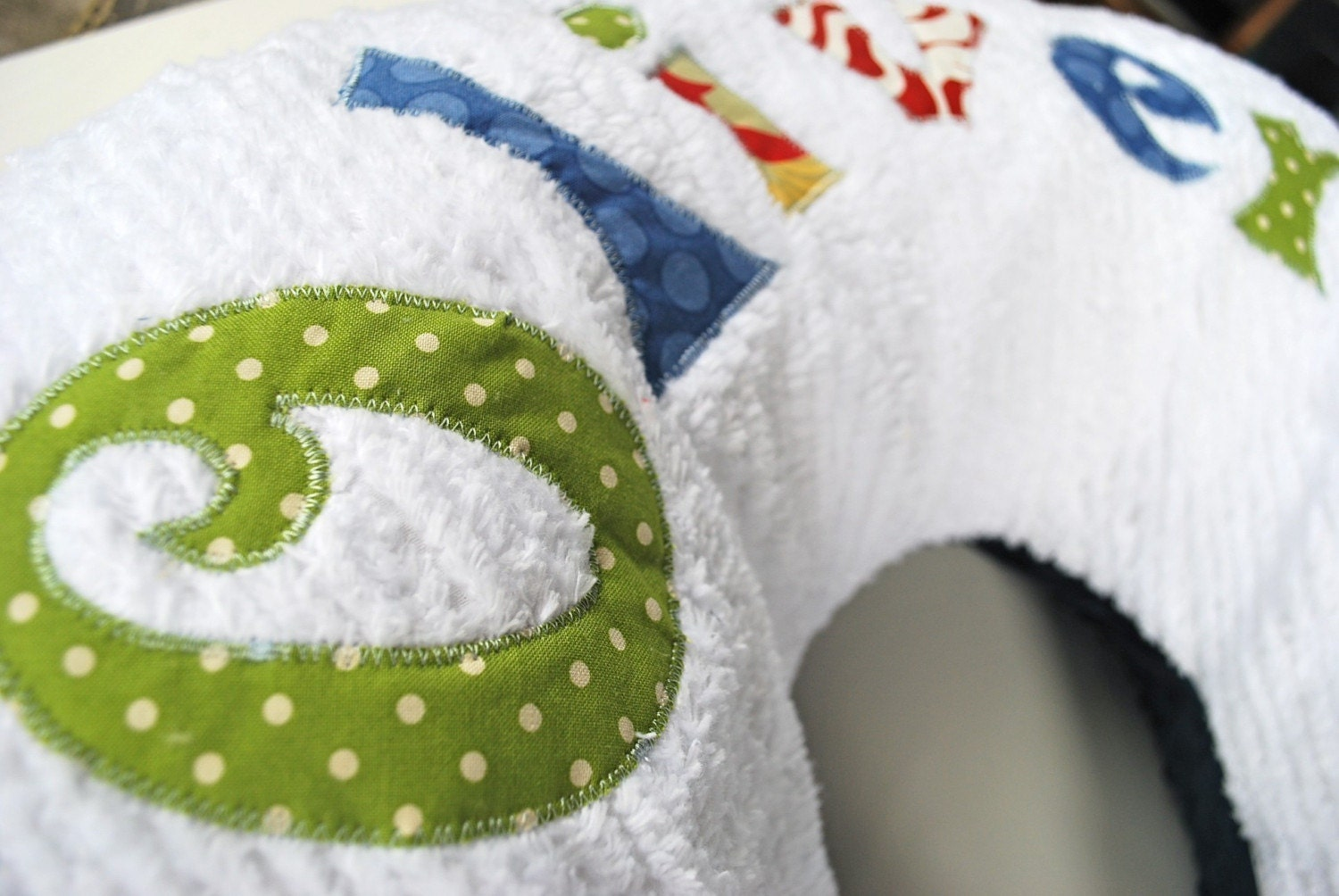 Monogrammed Nursing Pillow Cover Personalized With Your Baby