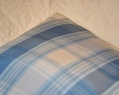 Fresh Blue Decorative Pillow Cover