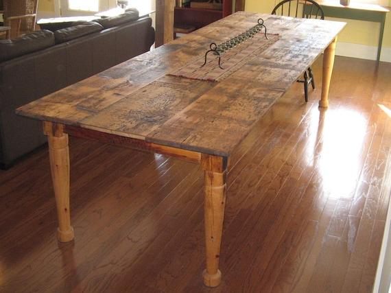 Items Similar To Farmhouse Dining Kitchen Table On Etsy