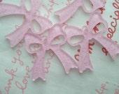 sale Laser cut Acrylic BOW charms 4pcs Glitter PINK