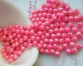 Pearly AB color Shiny beads 6mm 80pcs CHERRY