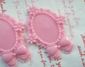 SALE Mimi Lo Lo Exclusive Round Bow and flower setting frame 2pcs PINK ME-B