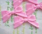 SALE Plain Tied bow cabochons 4pcs Pop Pink