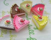 sale Small Sliced cake Set E 6 pcs