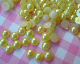 Super Tiny Yellow Pearlized Round plastic rhinestones 3mm 3 grams over 300pcs