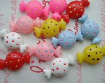 sale Small Polka dots Candy cabochons 12pcs