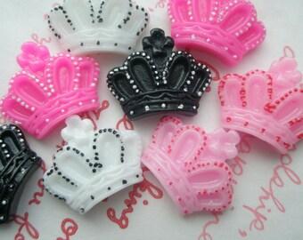 sale Lolita Crown cabochons 4 colors MIX 8pcs