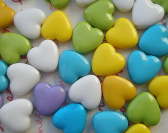 Small Heart BEADS 20pcs Assorted colors