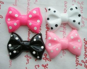 sale Big polka dots bows Set 4pcs A
