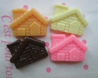 Chocolate House cabochons set 4pcs