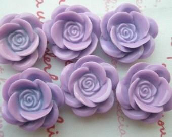 SALE Matte type Pretty rose cabochons 6pcs PD 001 18mm Lavender