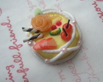 Fancy Fruits Miniature Cake 1pc Yellow