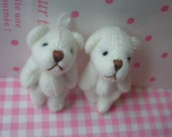Small Teddy Bear dolls Set 2pcs Ivory