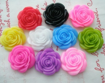 TA-001  Rose cabochons 10pcs 21mm Random Mix