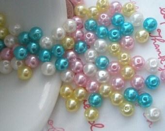 MIX Pearlized round beads 6mm 90pcs