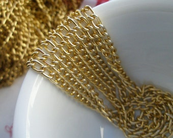 5 Feet Aluminum curb chain GOLD COLOR  Size---M (Link6mm x 3mm)