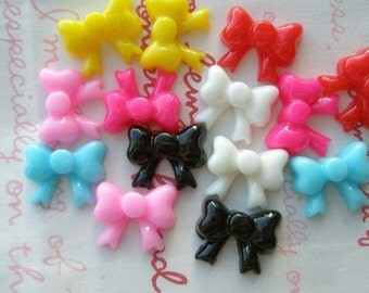 Colorful Tiny butterfly bows 14pcs