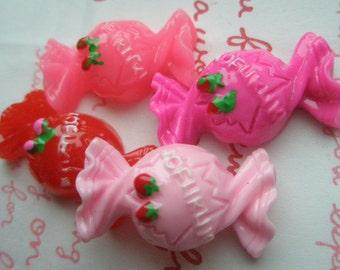sale Yummy Candy cabochons Set 4pcs