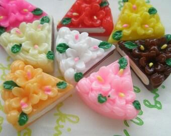 Small Sliced Flower cake Set  8pcs