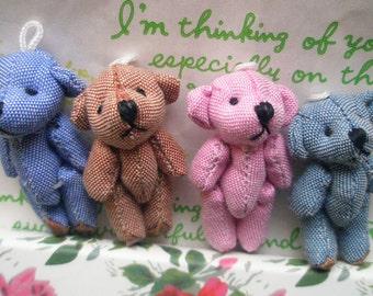Simple Teddy Bear dolls SET 4pcs