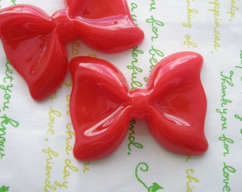 SALE Large Simple Bow 2pcs RED 54mm x 41mm