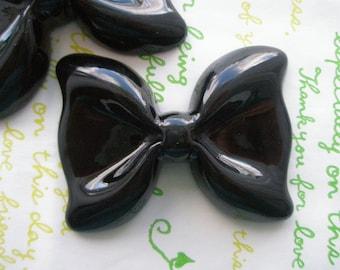 SALE Large Simple Bow 2pcs Black 54mm x 41mm